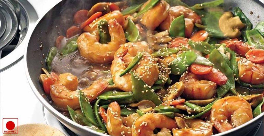 Stir Fried Spicy Szechuan Prawns