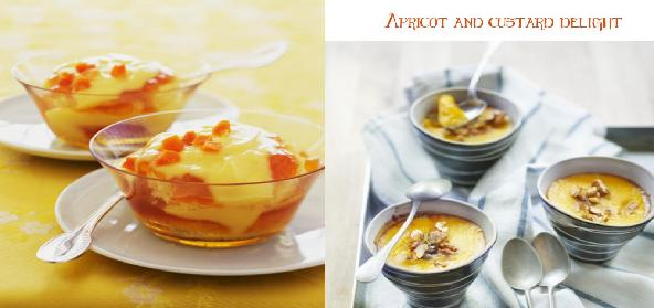 Apricot And Custard Delight