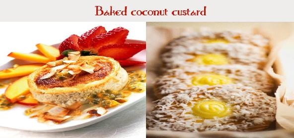 Baked Coconut Custard