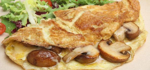 Baked Omelette With Mushrooms