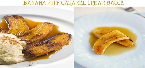 Banana With Caramel Cream Sauce