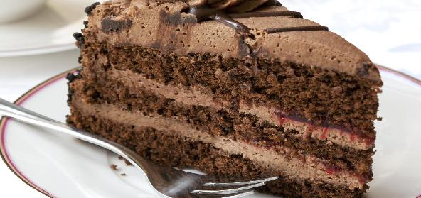 Chocolate Cake With Sugar Browned