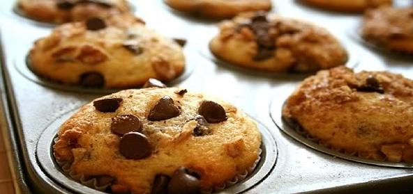 Chocolate Chip And Nut Muffins