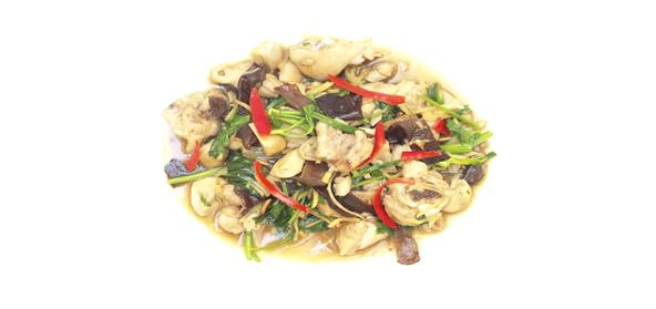 Ginger Chicken With Mushrooms
