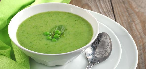 Green Peas Mint Soup