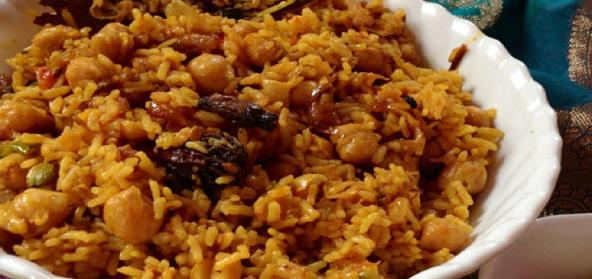 Kabuli Channa Pulav White Chickpea Rice