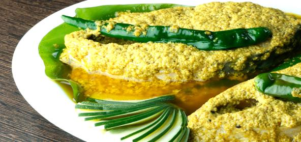 Macha Jhal Hilsa Fish With Mustard Paste