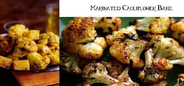 Marinated Cauliflower Bake