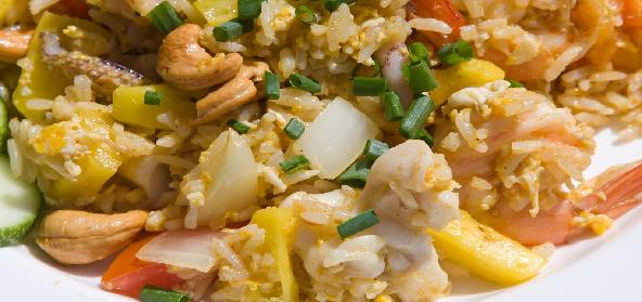 Meat Pineapple Fried Rice