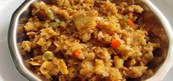 Mixed Vegetables Chilli Kothu Parotta