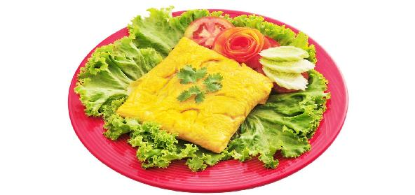 Omelette Stuffed With Bamboo Mixture