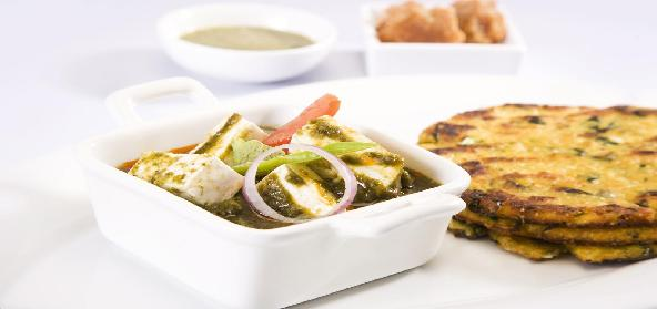 Palak Paneer With Onion