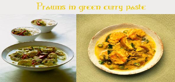 Prawns In Green Curry Paste