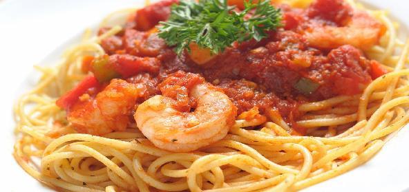 Prawns In Pasta