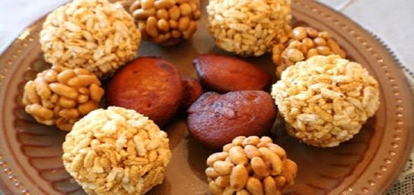 Puffed Rice Laddus  Pori Urundai