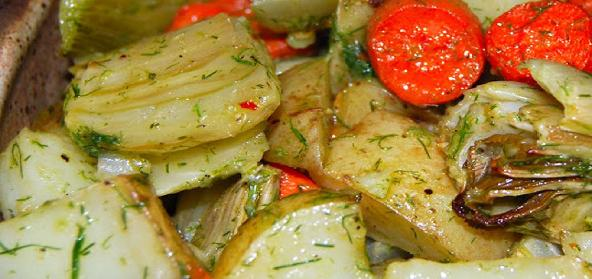 Roasted Vegetables With Fennel Vinaigrette