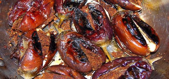 Stuffed Baby Eggplants  Gutti Vankai